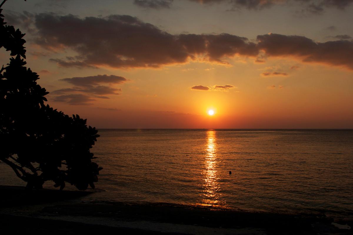 沖縄写真 夕陽