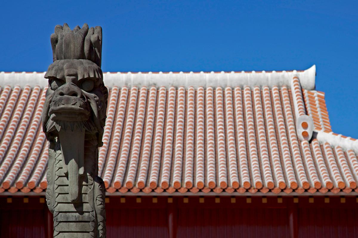 沖縄写真 首里城 北殿 龍柱 沖縄の世界遺産