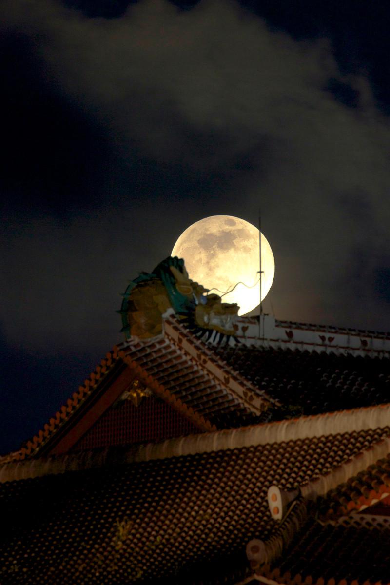 沖縄写真 スーパームーン 2013