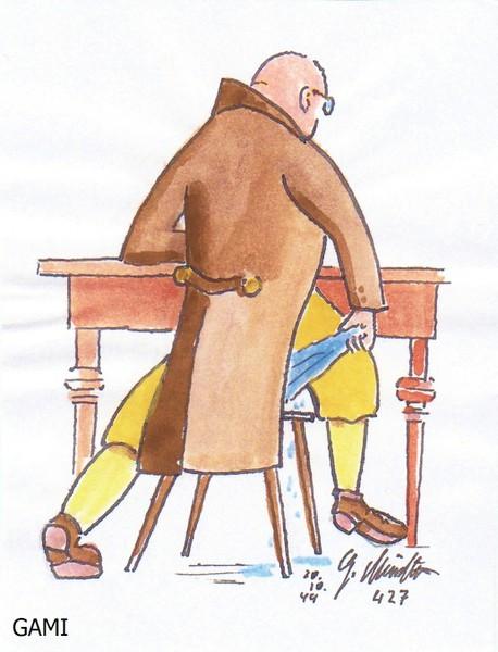 Arzt mit Tuch
