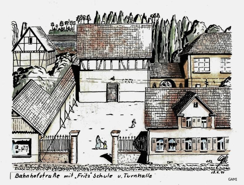Bahnhosfstraße  ( Kusterer - alte Turnhalle - Fritz-Schule)