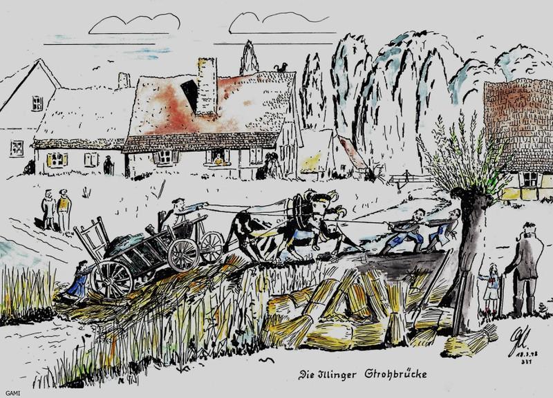 Strohbrückler  - Illinger Neckname