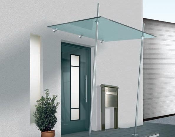 marquise verre inox et aluminium menuiserie miroitier vitrier d pannage. Black Bedroom Furniture Sets. Home Design Ideas