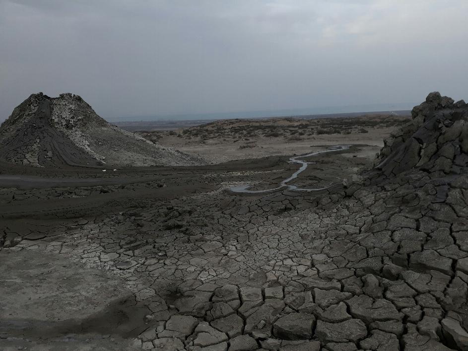 Mud vulcano Qobustan