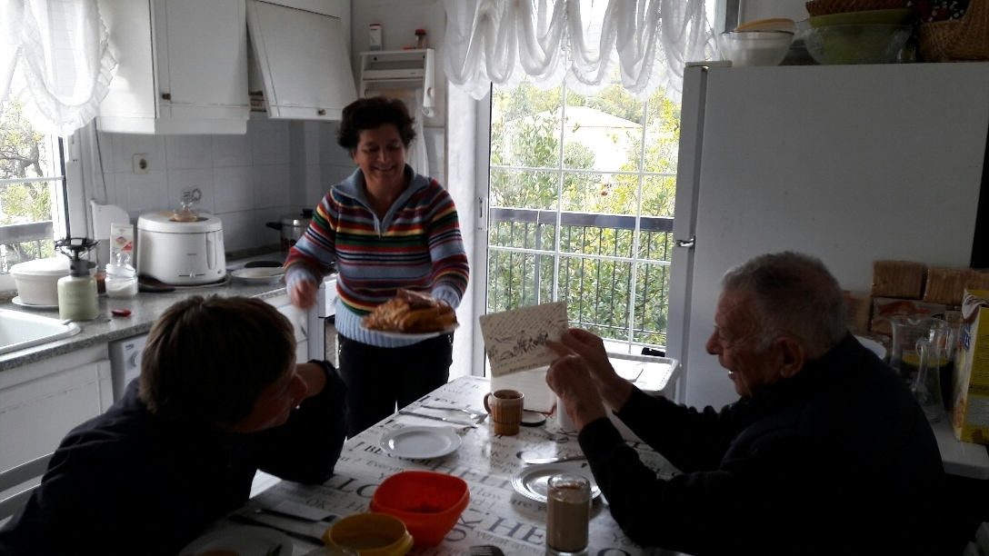 Breakfast at Kostas and his good fairy