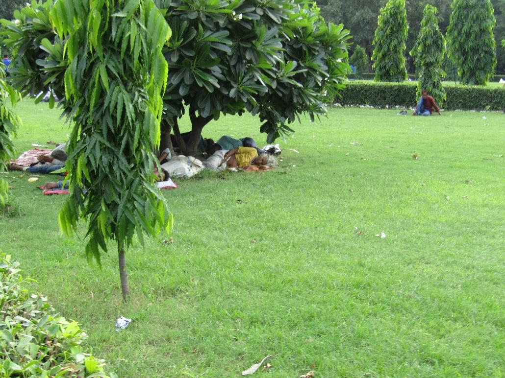Siesta time im Park