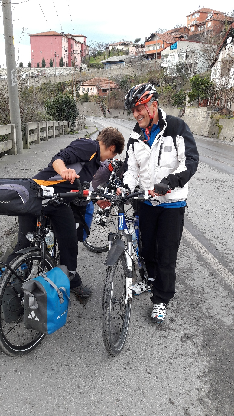 Ahmet passionate cyclist and hiker