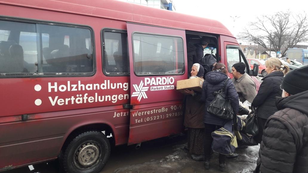 Minibus von Gori nach Chaschuri