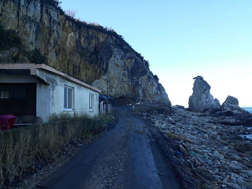 The backside of Amasra, garbage mountain