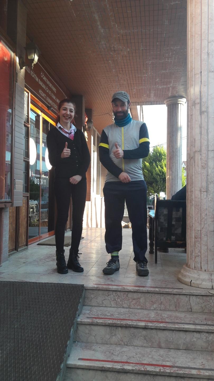 Charming waitress in the Örğetmenevi in Ayançik
