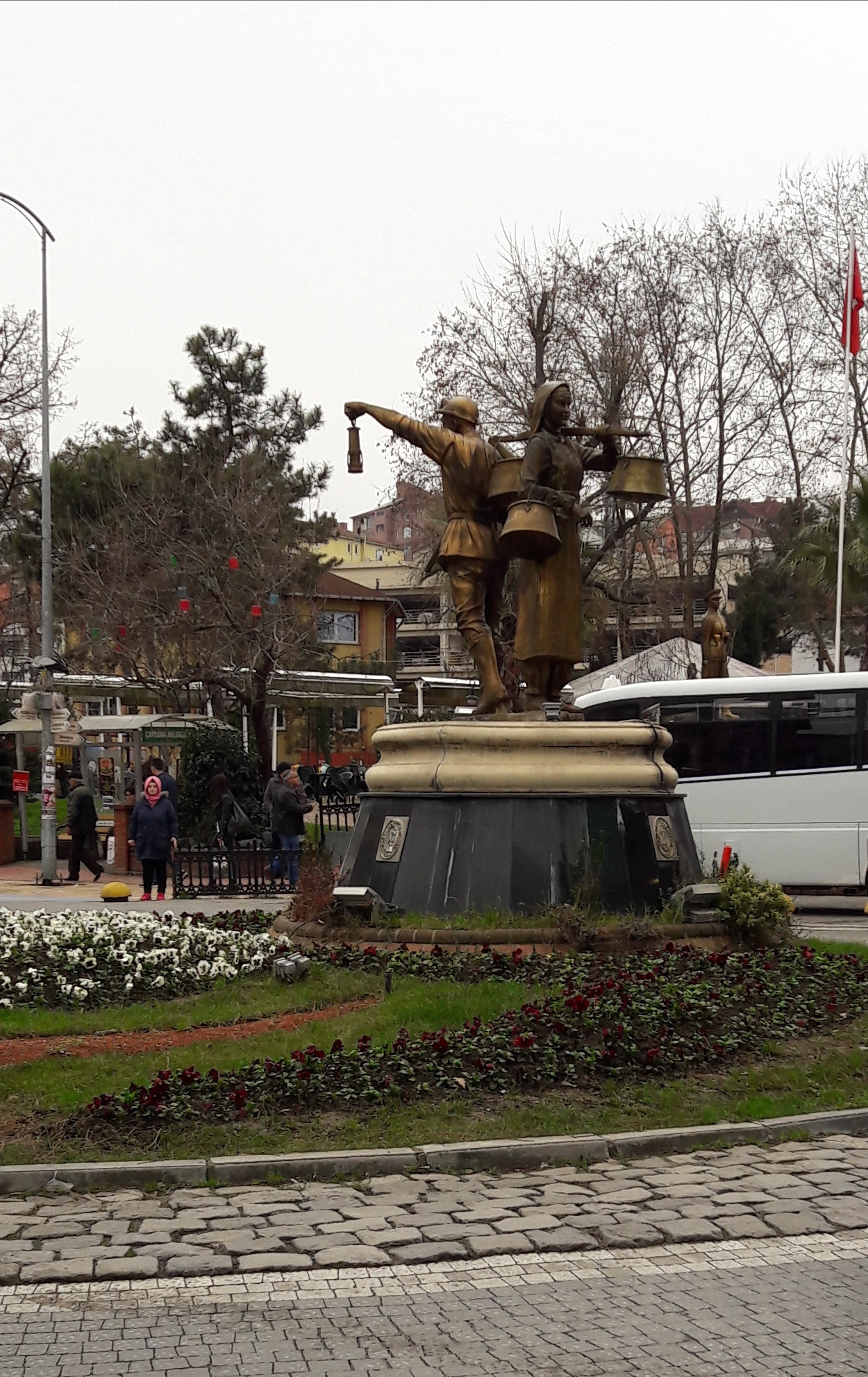 The statuary reminds us to the hard working people