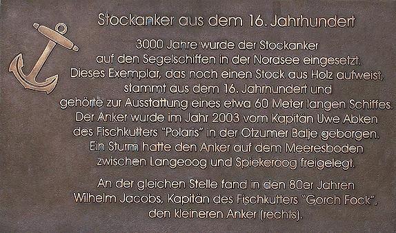 Stockanker aus dem 16. Jahrhundert