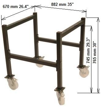 Untergestell mit Rädern für Druckpresse JS 50 / 60