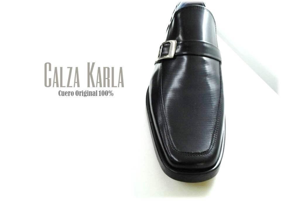 zapato de cuero casual en suela natural
