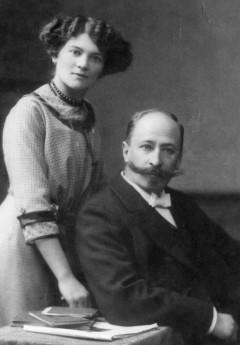 Philipp Wilhelm Pfeiffer und seine Frau Clara Pfeiffer in den Gründerjahren
