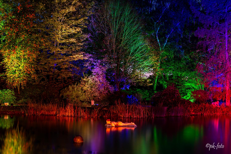 Lichtwoche im Maximilanpark in Hamm