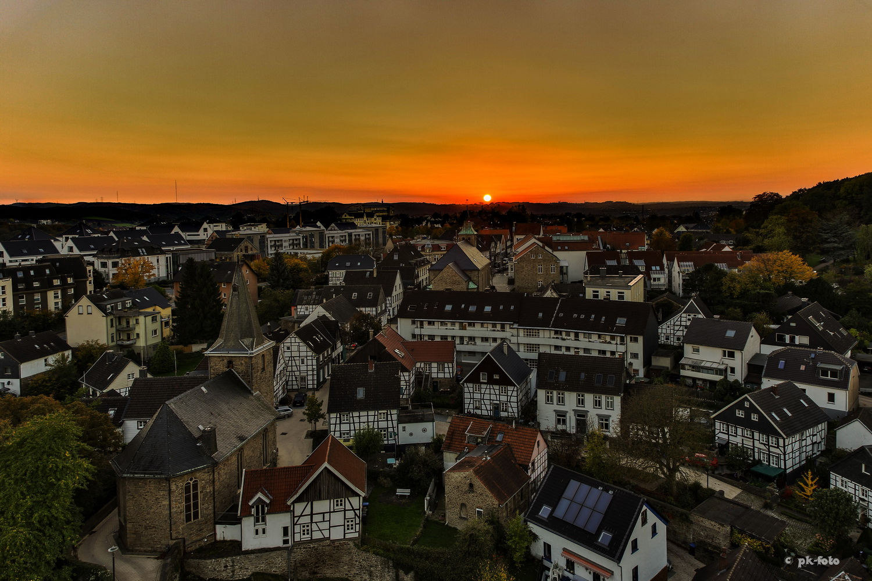Blick auf Blankenstein von der Burg aus