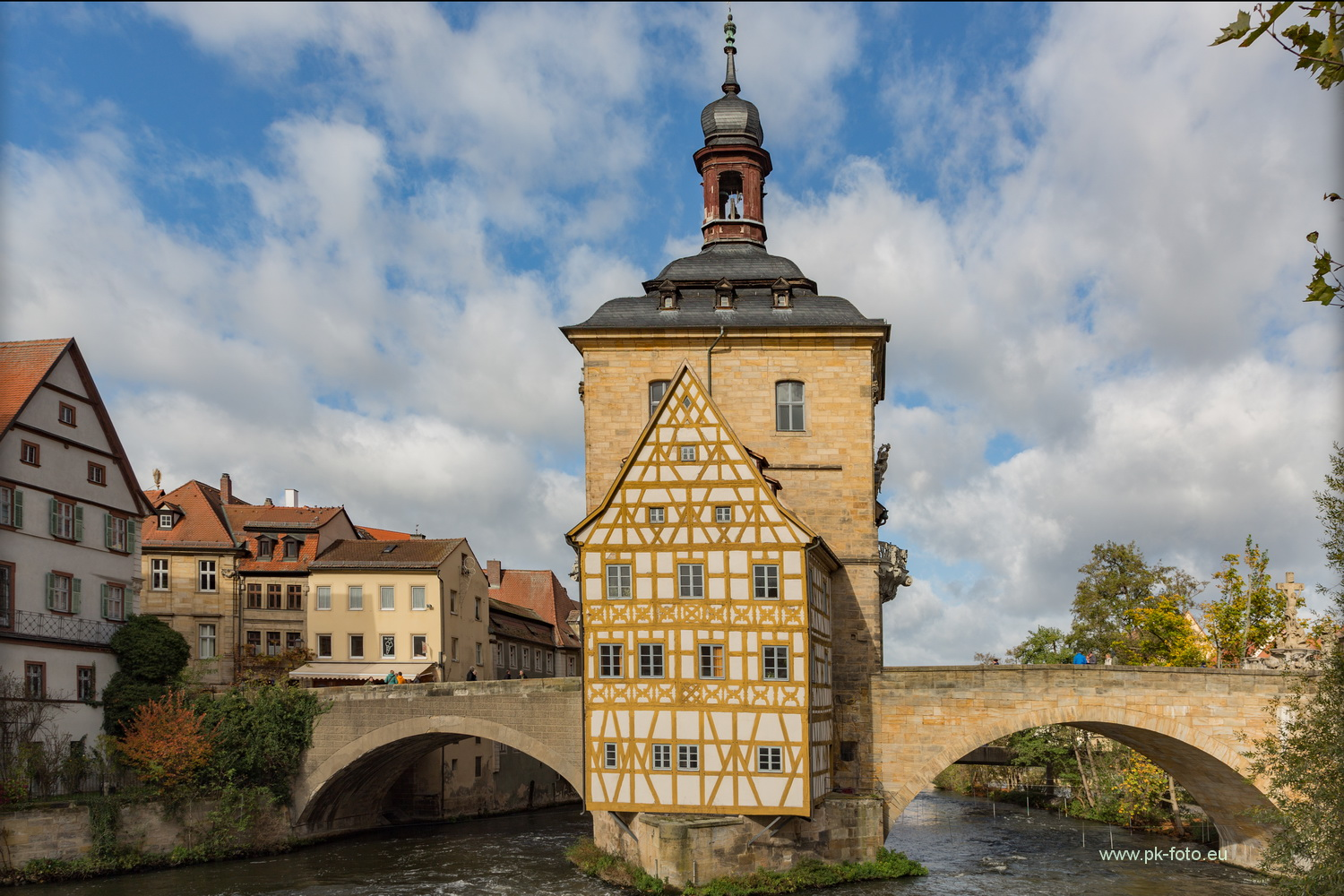Altes Rathaus in der Regnitz in Bamberg