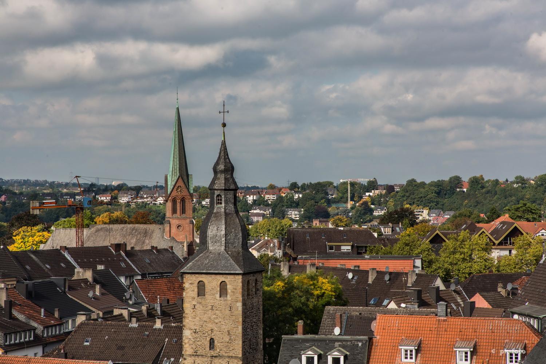 Blick vom St. Georgsturm auf St. Johannis und St. Peter und Paul