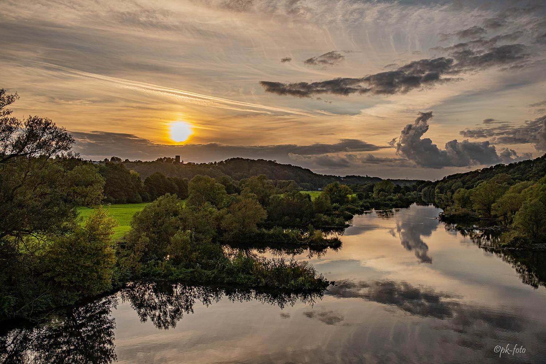 Sonnenuntergang im Ruhrtal Hattingen