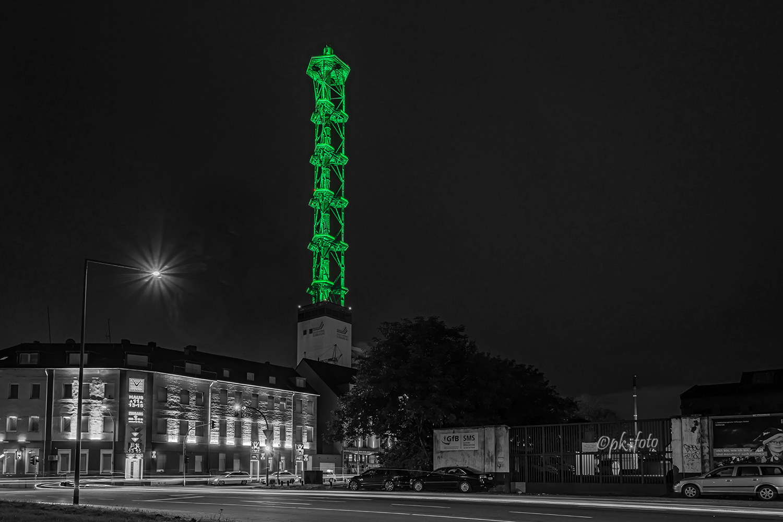 Stadtwerketurm und Vulkanstraße in Duisburg