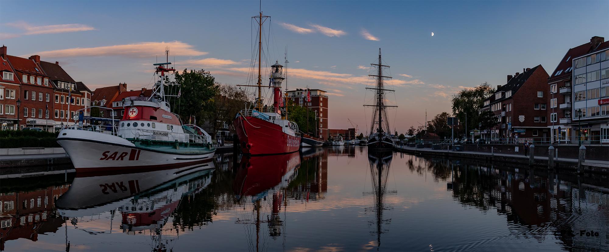 Emdener Delft als Panoramafoto