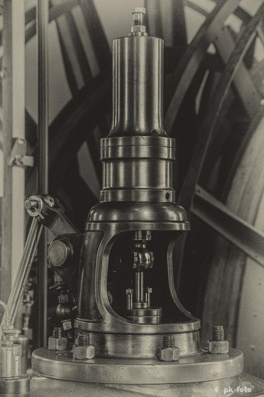 Teil einer Dampffördermaschine