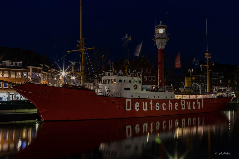 Museumsschiff Deutsche Bucht im Emdener Delft