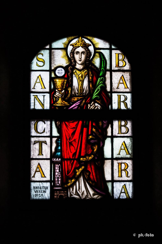 St. Johannes-Baptist Blankenstein - Fensterbild der Hl. Barbara