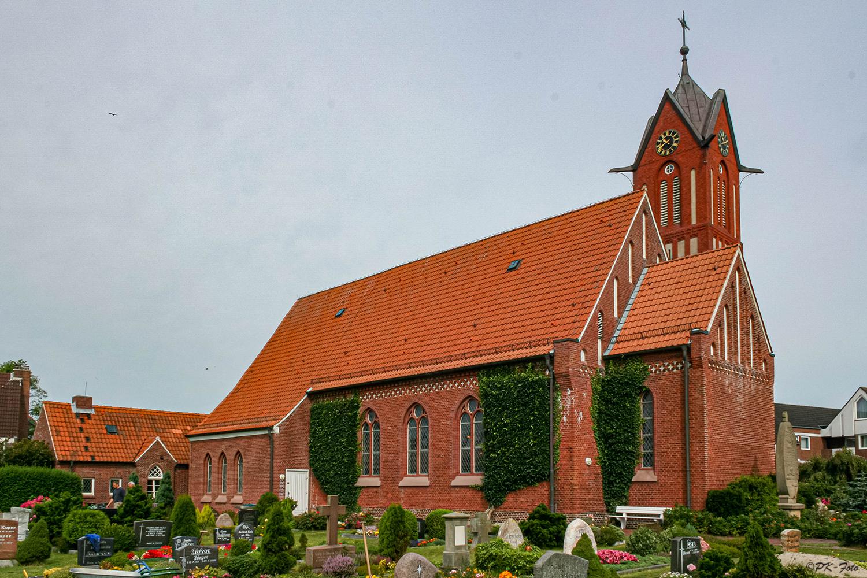 Evangelische Inselkirche von Langeoog - 1890