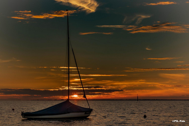 Sonnenuntergang in Nordeich
