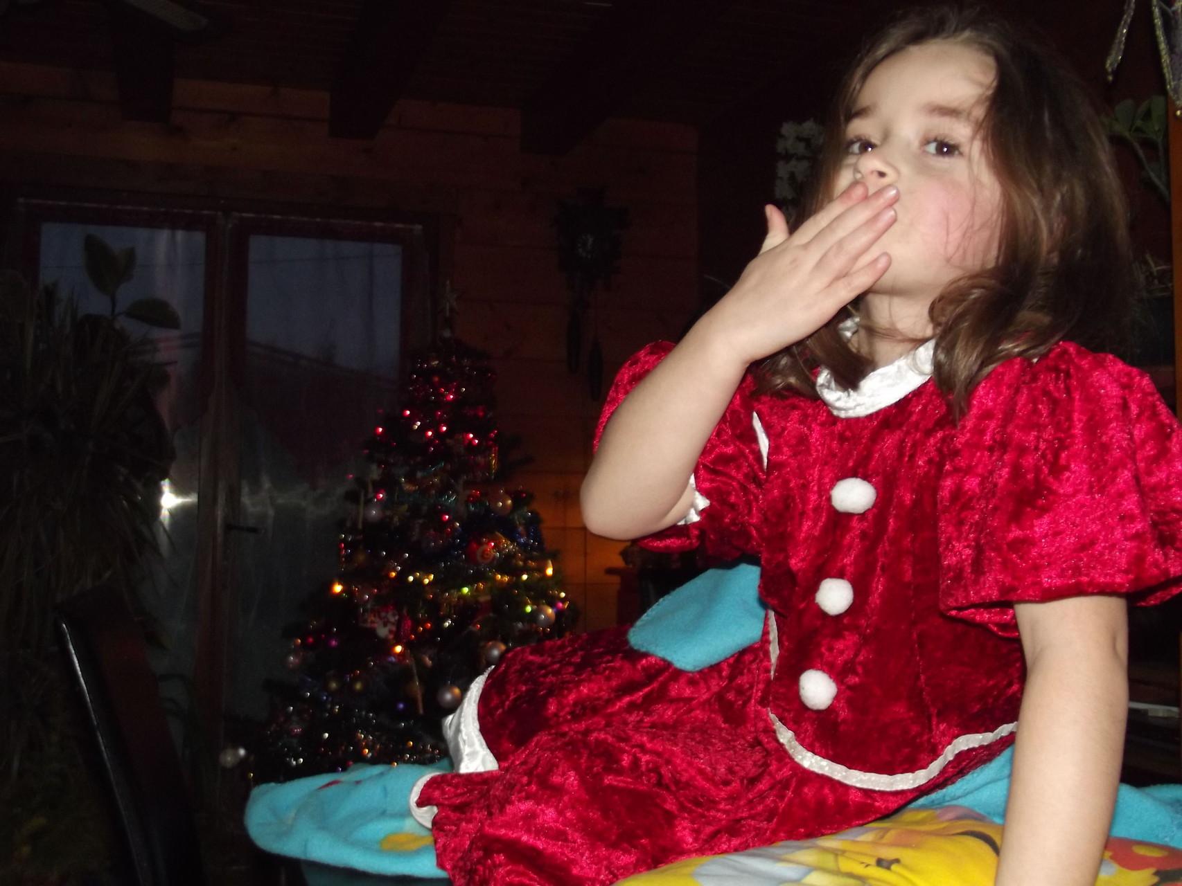 Robe de Noël enfant - Nathalie Navarro Créations
