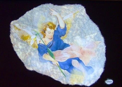 貼り絵天使・スノードロップ