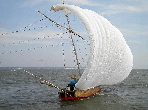2013/9 霞ヶ浦の帆引き船 JA1TST