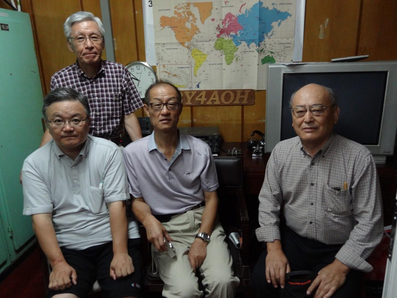 オリンピックホテル内 BY4AOH JF1AGB、JE1PYH、胡先生、7K3GNL