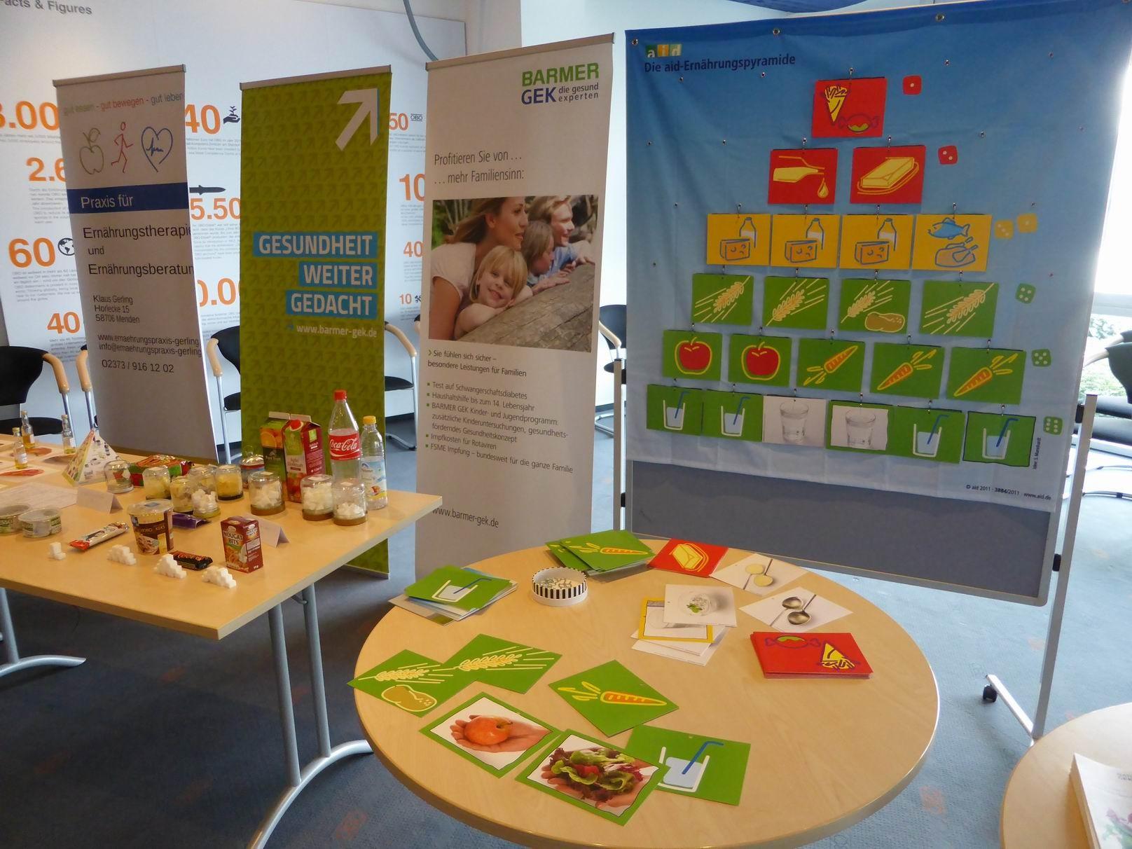 Ausstellung mit aid-Ernährungspyramide