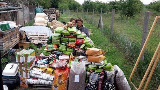 Bei Zsouzsa in Ungarn sind endlich wieder Spenden angekommen