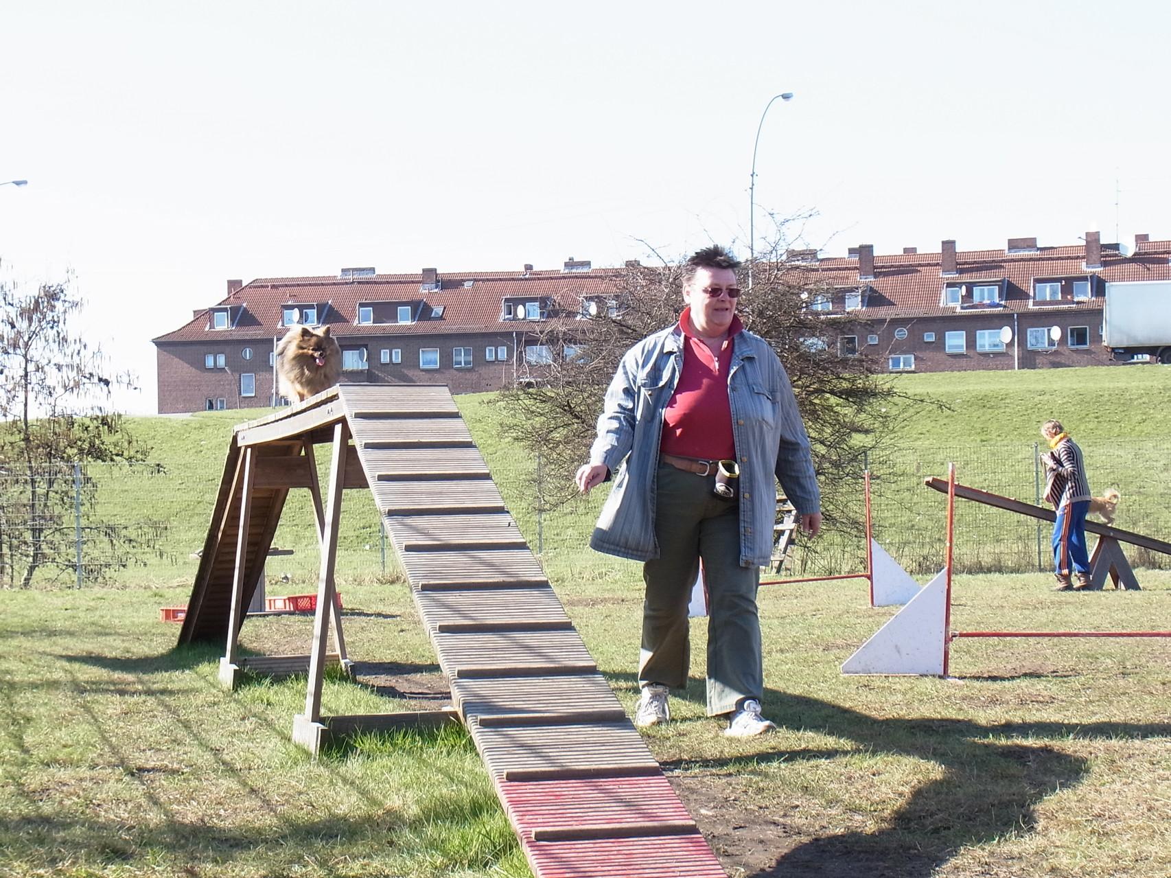 hier laufe ich auf dem Steg ...