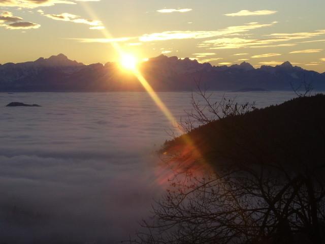 Sonnenuntergang Magdalensberg
