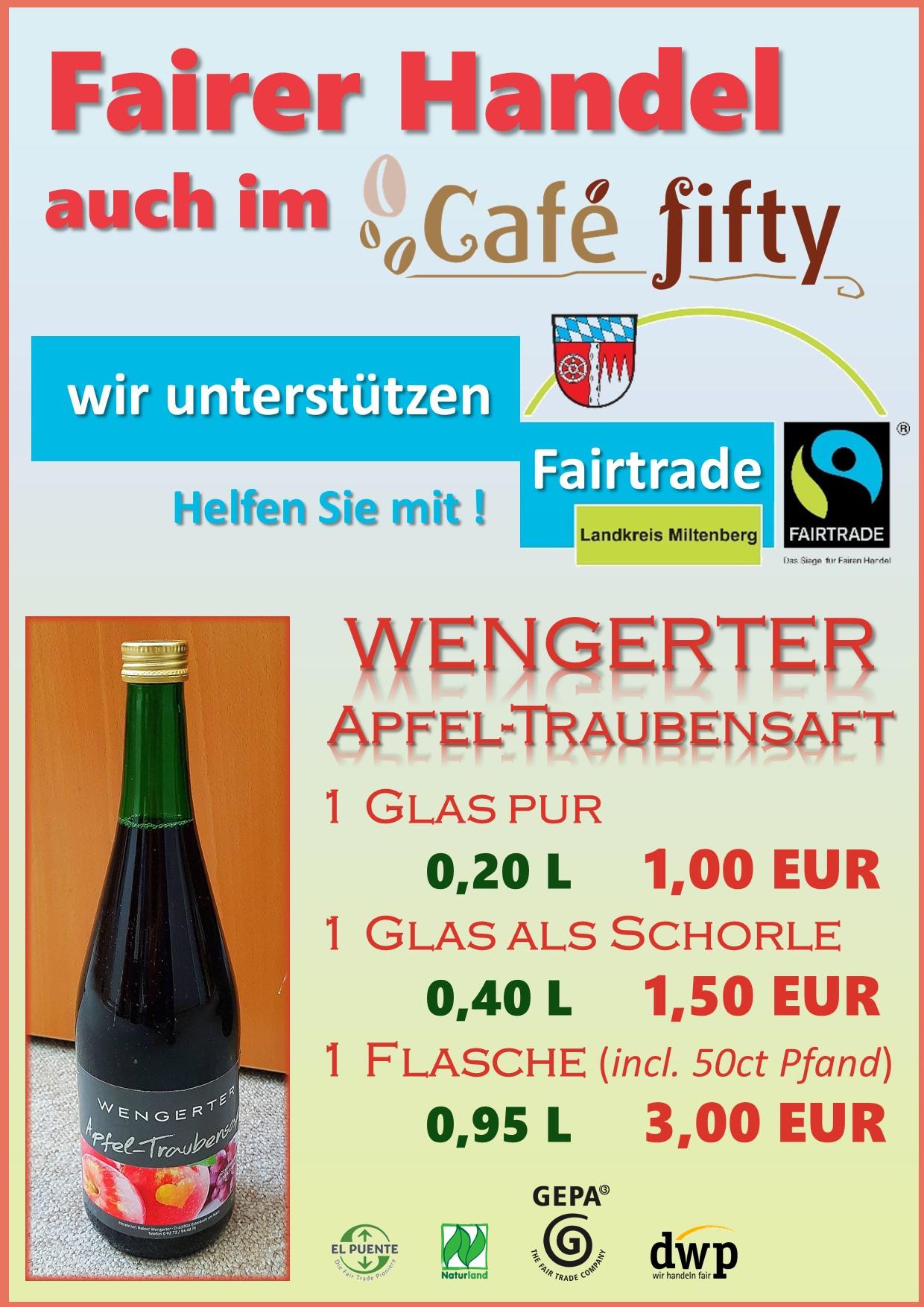 Wir sind die Neuen im Café fifty