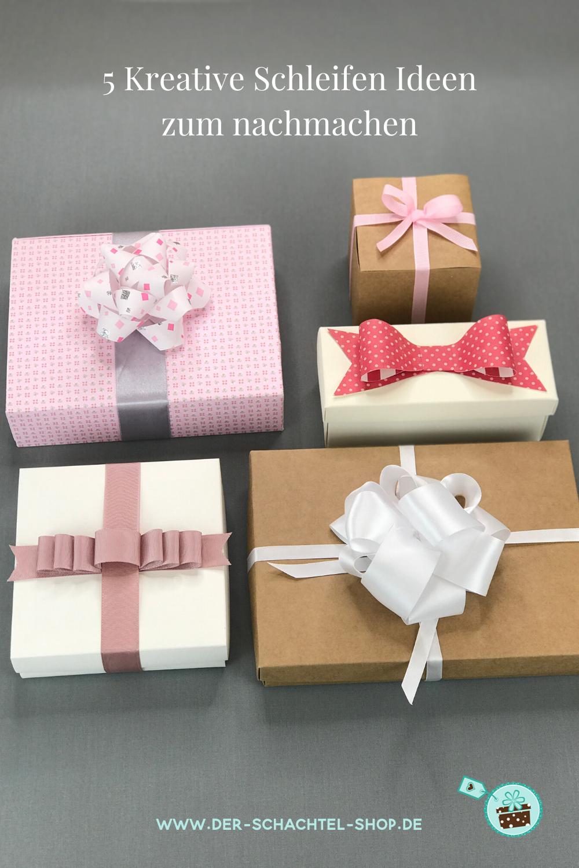 5 kreative Schleifen Geschenke verpacken