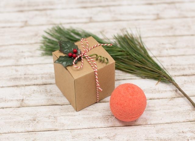 Verpackung für Badebomben #Geschenkidee #Weihnachten #Badebomben