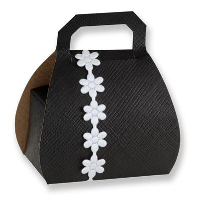 Handtaschen Faltschachtel schwarz
