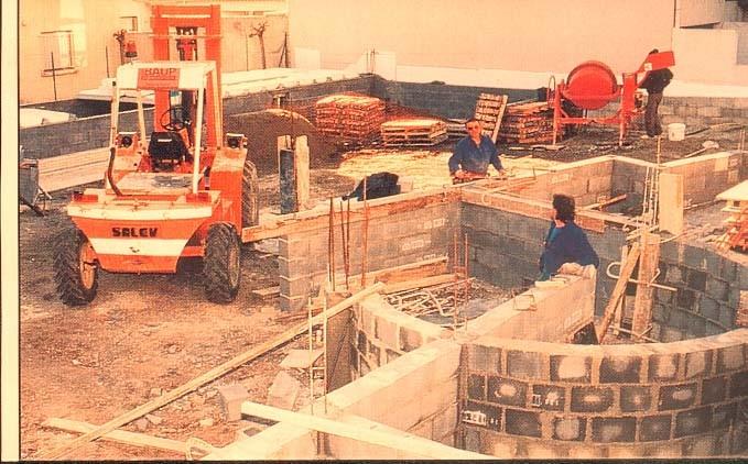 Chantier en janvier 1995