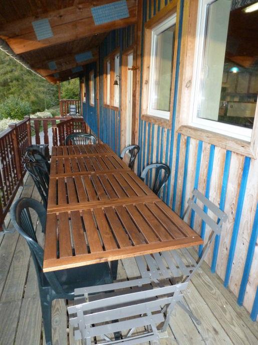 L'Indigo: la terrasse avec vue panoramique sur les Vosges