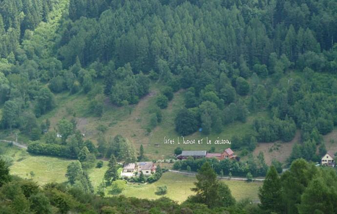 vue sur les gîtes des hauts de Saint- Amarin