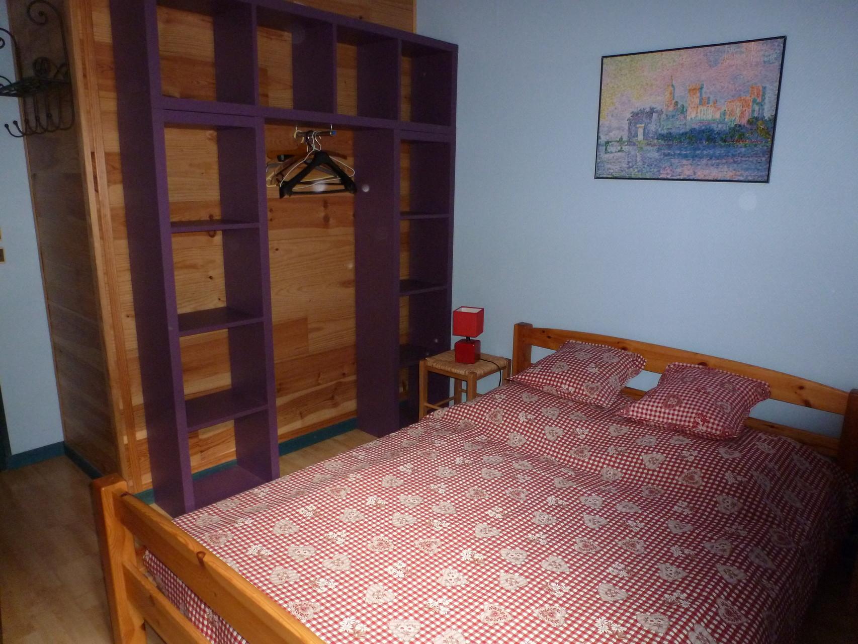 L'Indigo: chambre bleue 1 lit double
