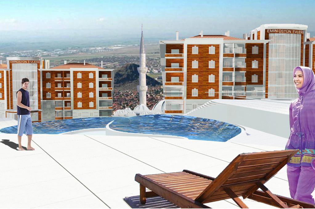 Therme Anlage - Aussicht vom Therme Schwimmbad & Gesundheitszentrum