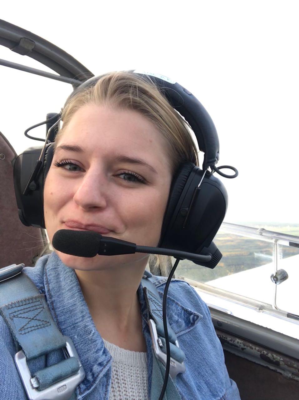 Franzi bei einem ihrer Ausbildungsflüge