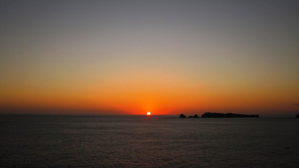 小富士山頂からの日の出